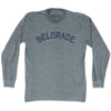 Belgrade City Vintage Long Sleeve T-shirt in Athletic Grey by Mile End Sportswear