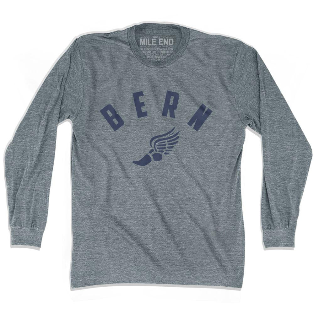 Bern Track long sleeve T-shirt in Athletic Grey by Mile End Sportswear