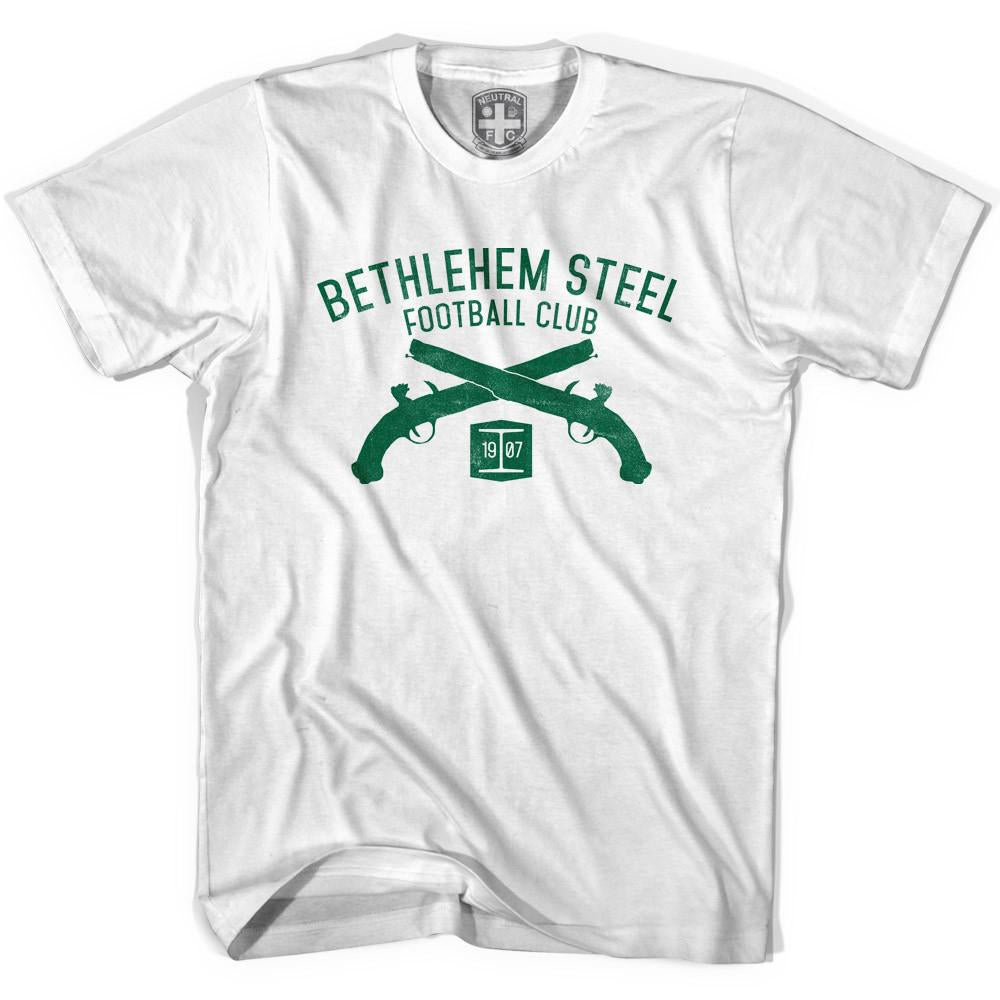 Bethlehem Steel Football Club Pistols T-shirt in White by Neutral FC