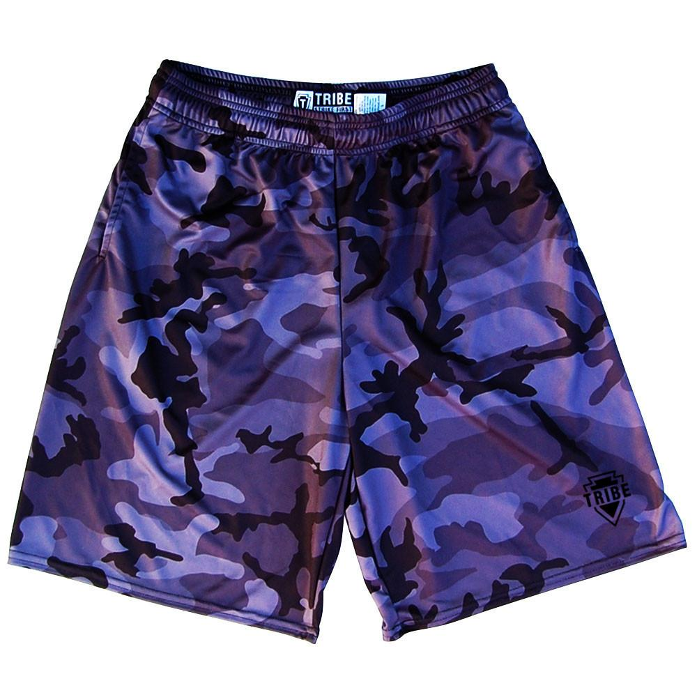 Tribe Black Camo Lacrosse Shorts in Black by Tribe Lacrosse