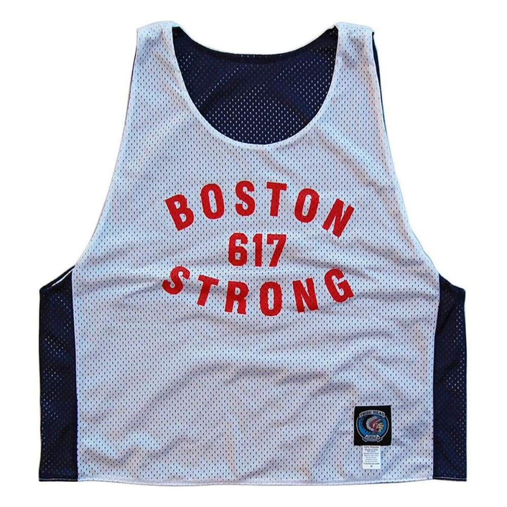 Boston Strong 617 Sox Color-way Larosse Pinnie - Graphic Mesh Lacrosse Pinnies