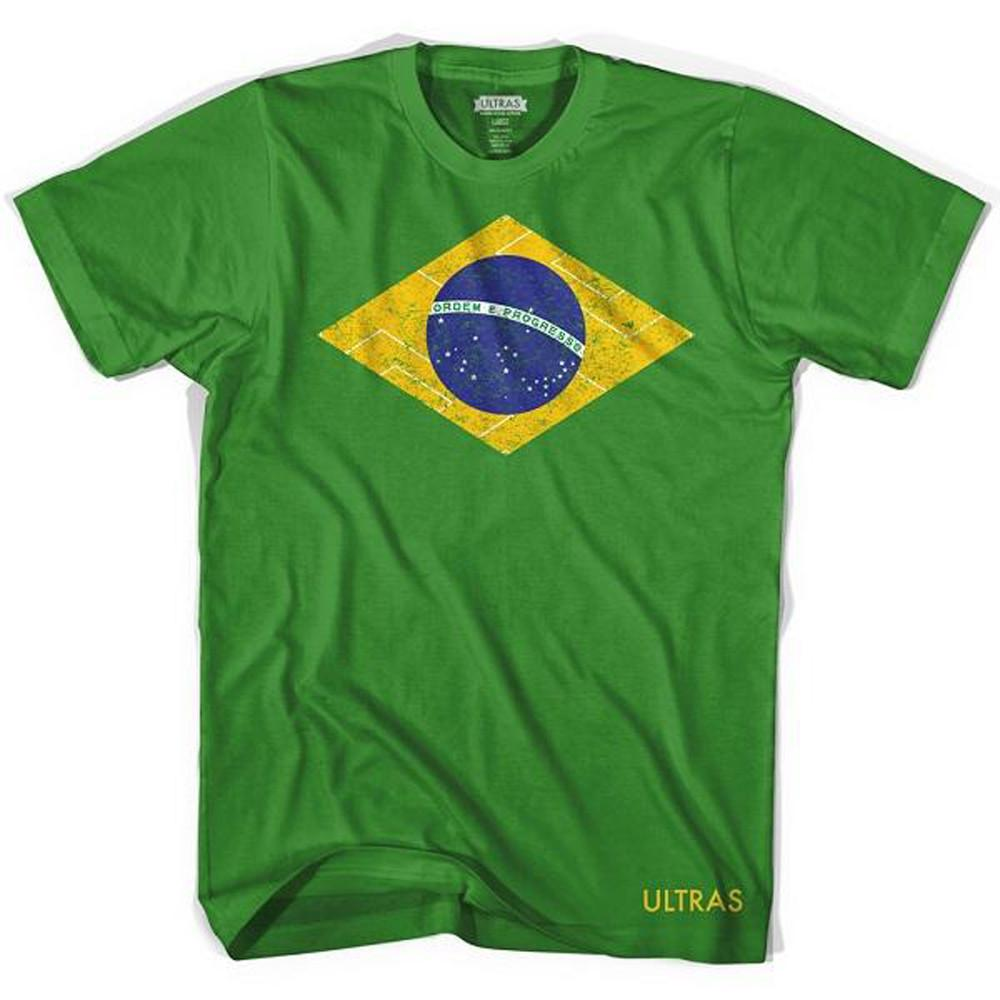 Brasil Flag Soccer Field T-shirt in Grass by Neutral FC