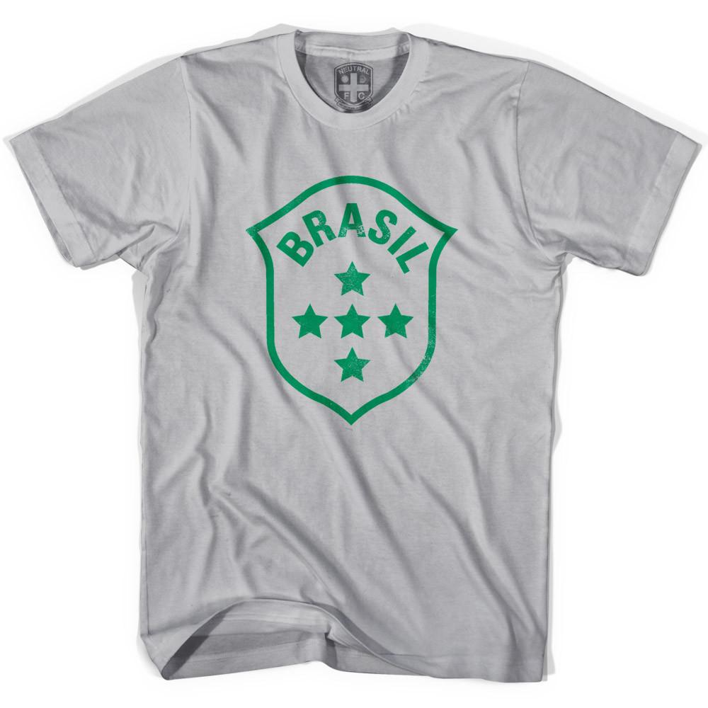 Brasil 5 Star Crest T-shirt in Cool Grey by Neutral FC