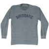 Brisbane City Vintage Long Sleeve T-shirt in Athletic Grey by Mile End Sportswear