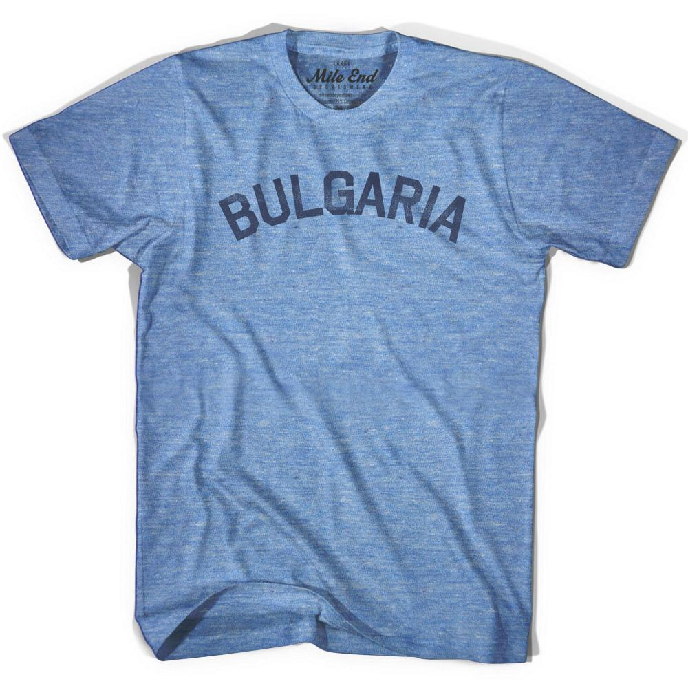 Bulgaria City Vintage T-shirt in Athletic Blue by Mile End Sportswear