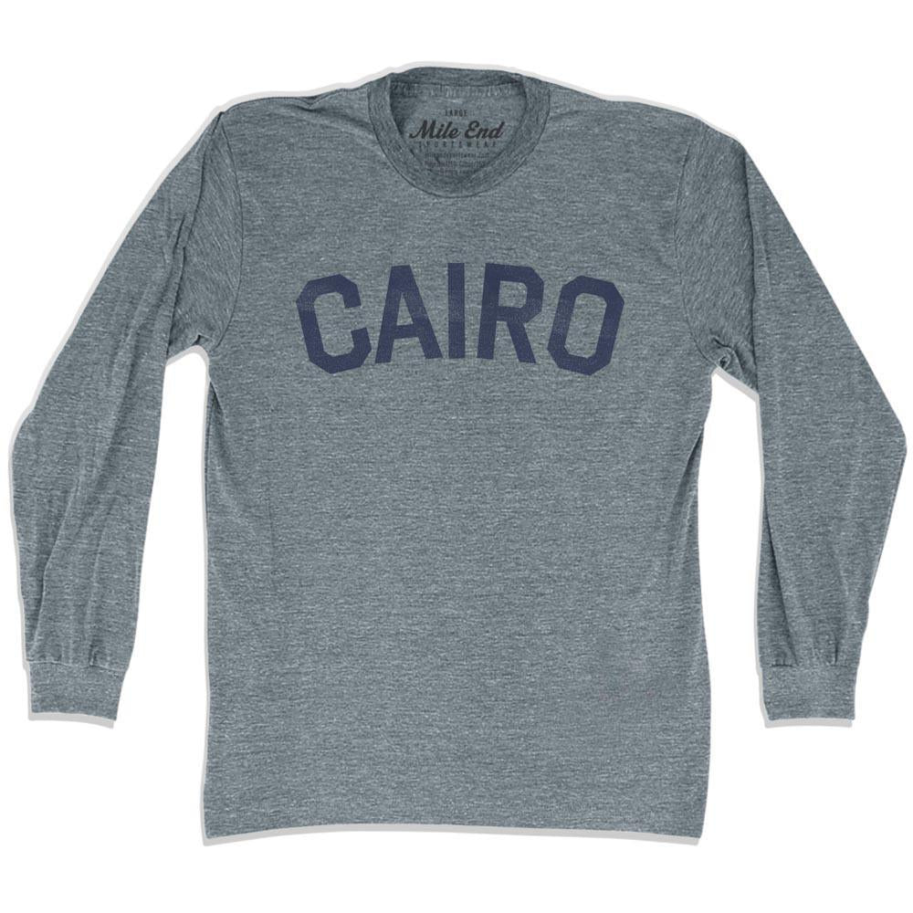 Cairo City Vintage Long Sleeve T-shirt in Athletic Grey by Mile End Sportswear