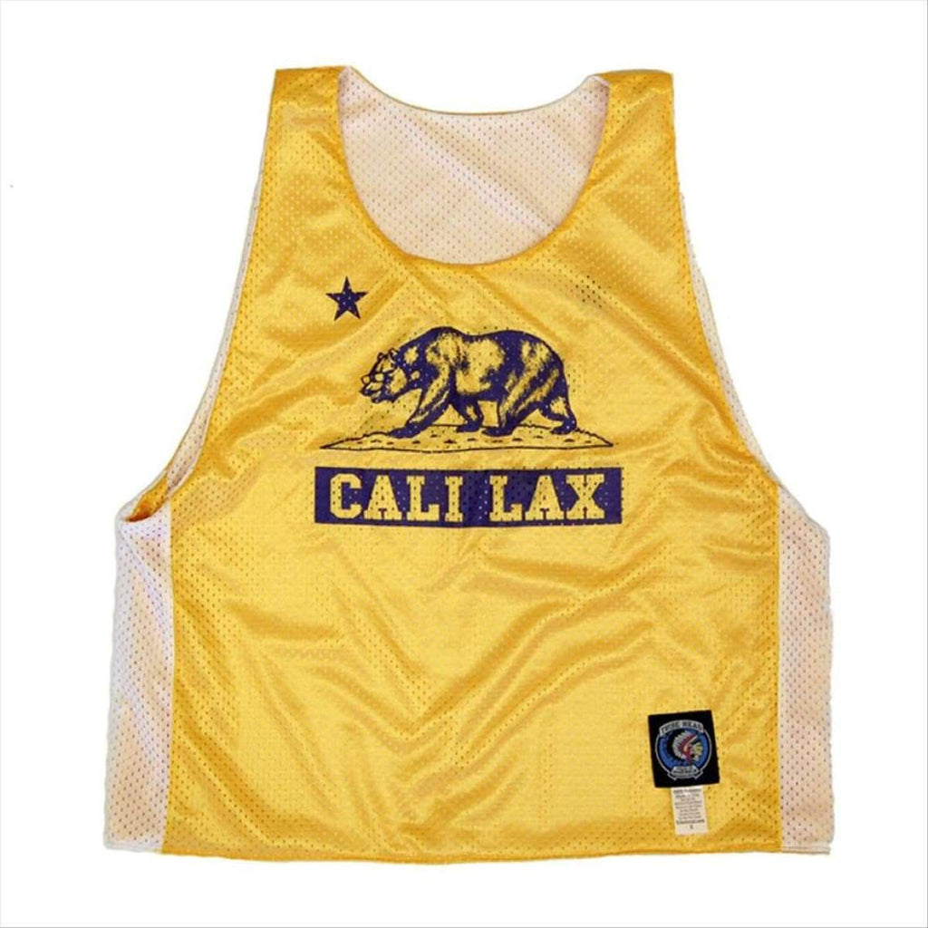 California Cali Lax Bear Lacrosse Pinnie - Graphic Mesh Lacrosse Pinnies