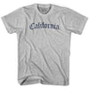 Womens California Old Town Font T-shirt