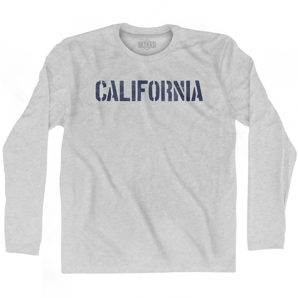 California State Stencil Adult Cotton Long Sleeve T-shirt by Ultras
