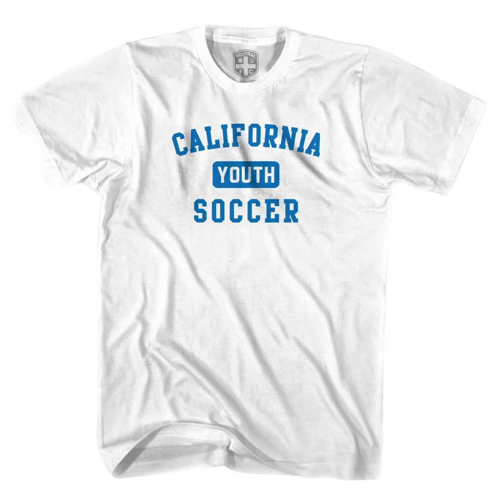 California Youth Soccer T-shirt in White by Neutral FC