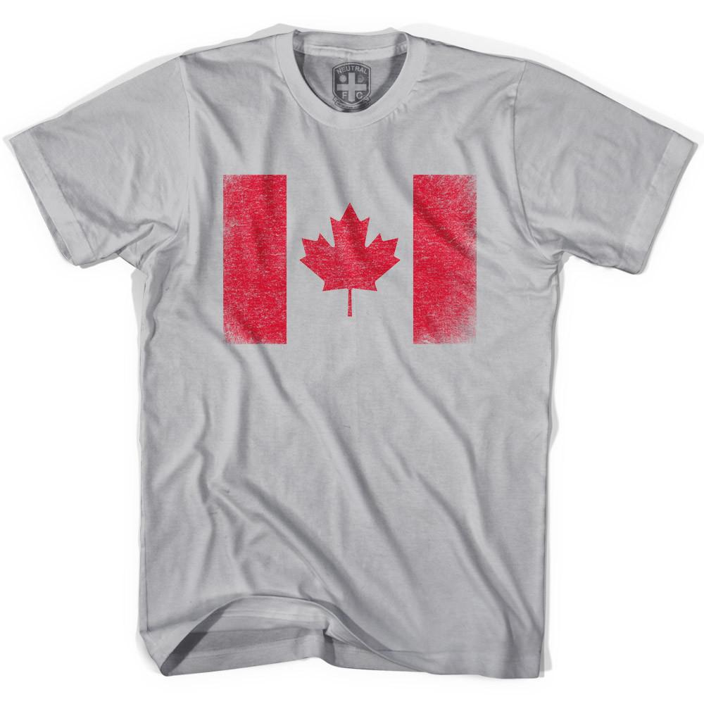 Canada Flag Soccer T-shirt in Cool Grey by Neutral FC
