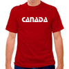 Canada Retro Font Soccer T-shirt in Red by Neutral FC