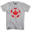 Canada Vintage Ball Soccer T-shirt in Cool Grey by Neutral FC