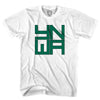 Celtic YNWA Block Letters Soccer T-shirt in White by Neutral FC