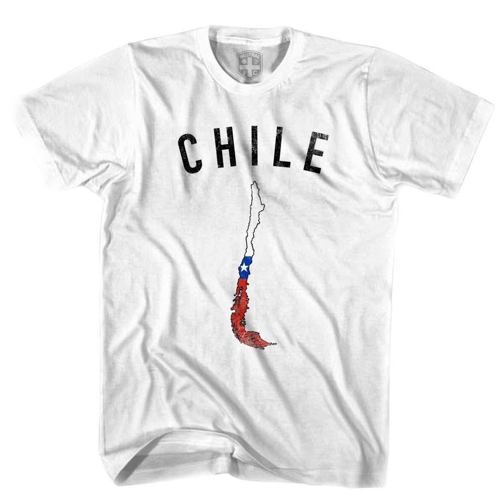 Chile Flag & Country T-shirt in White by Neutral FC