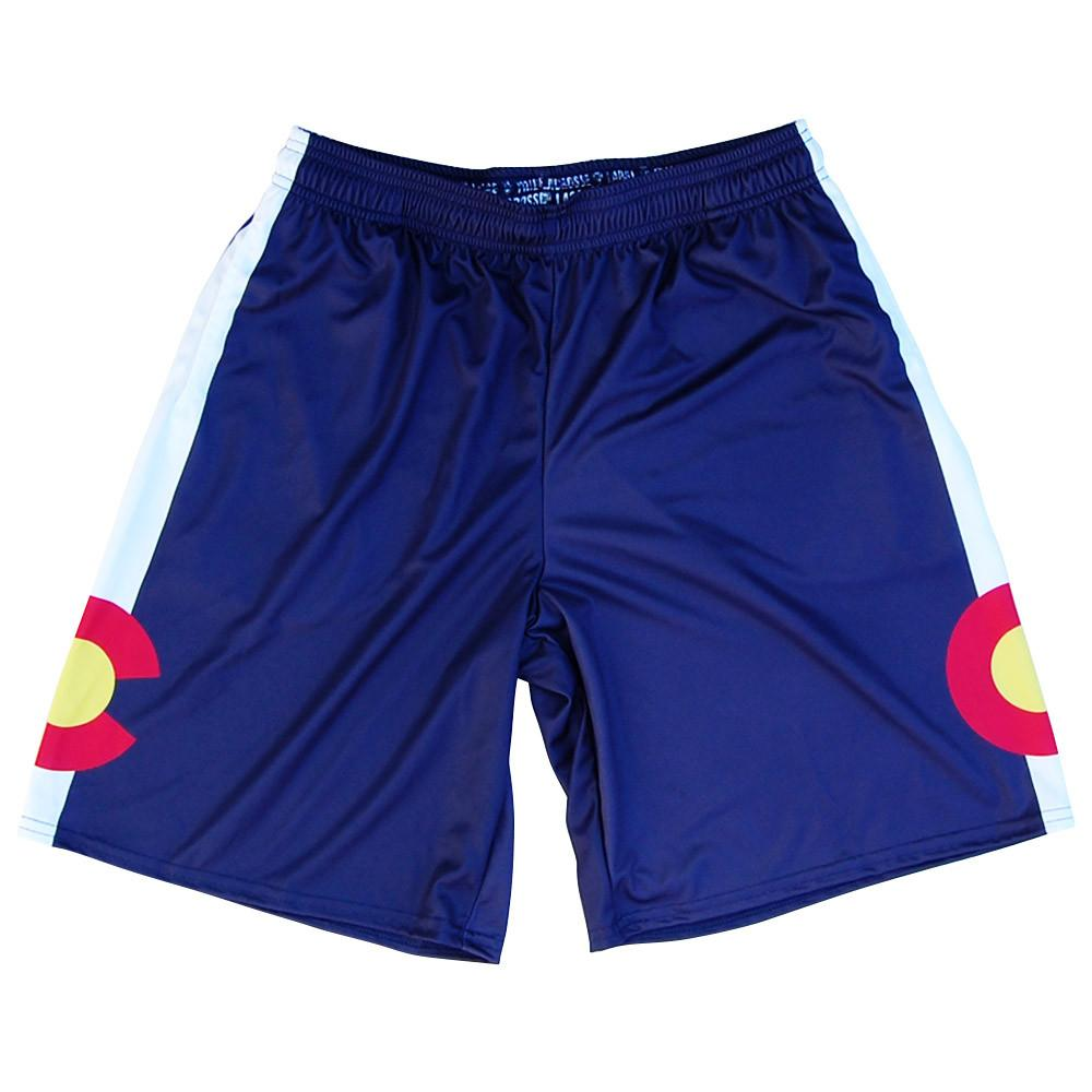 Colorado Flag Lacrosse Shorts in Navy by Tribe Lacrosse
