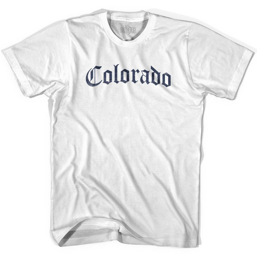 Womens Colorado Old Town Font T-shirt By Ultras