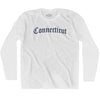 Connecticut Old Town Font Long Sleeve T-shirt