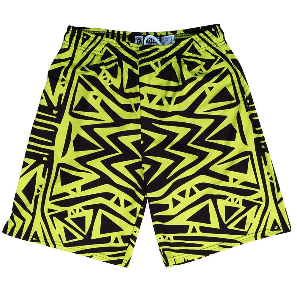 Tribe Creek Lacrosse Shorts in Volt Yellow by Tribe Lacrosse