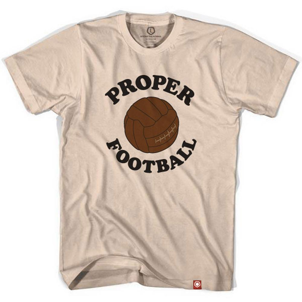 Proper Football Vintage Soccer Ball T-shirt in Creme by Neutral FC