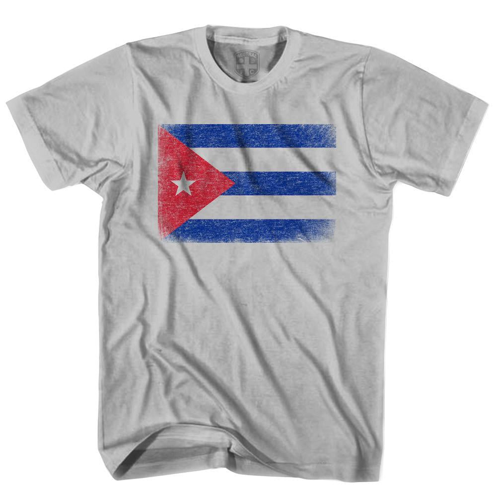 Cuba Flag T-shirt in Cool Grey by Neutral FC