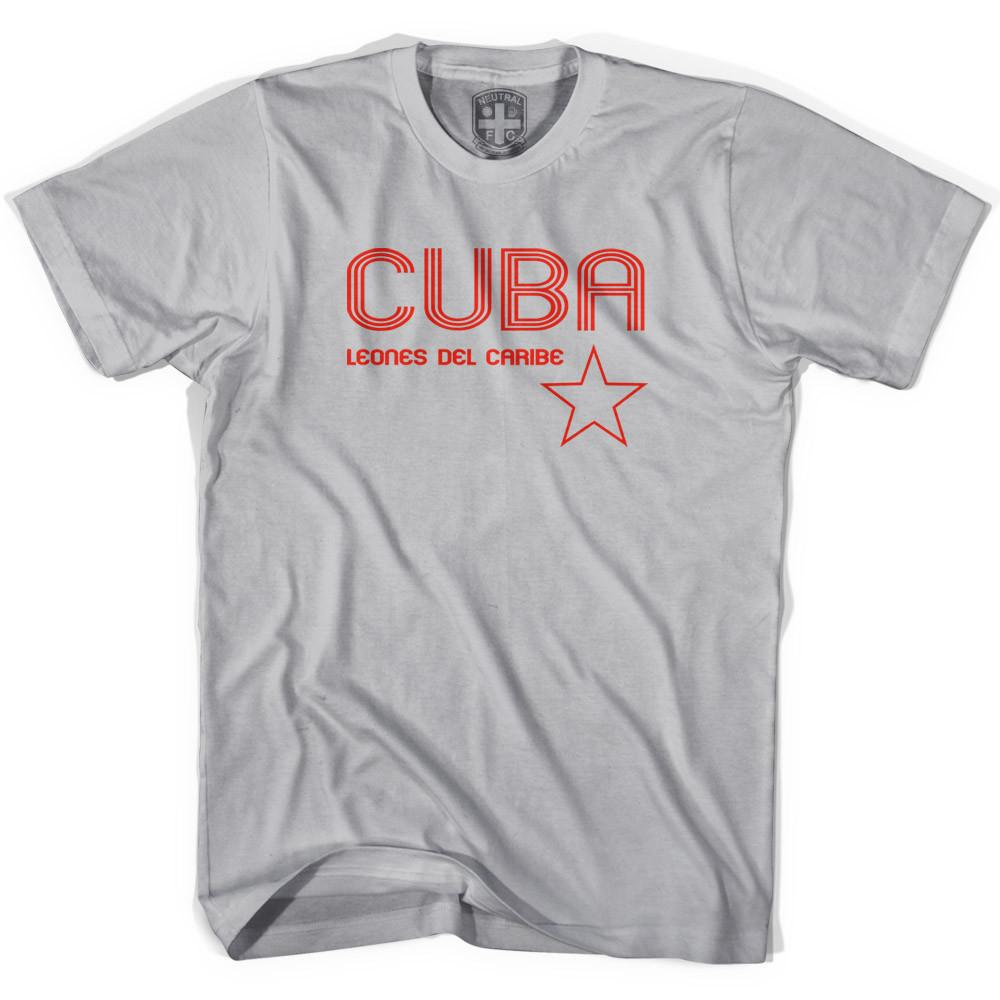 Cuba Soccer Lions of the Carribean Soccer T-shirt in Cool Grey by Neutral FC