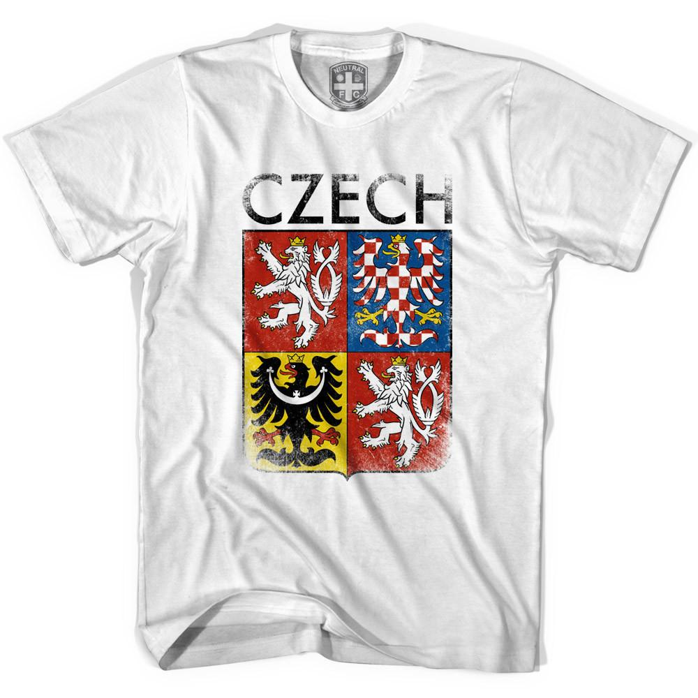 Czech Coat of Arms Soccer T-shirt in White by Neutral FC