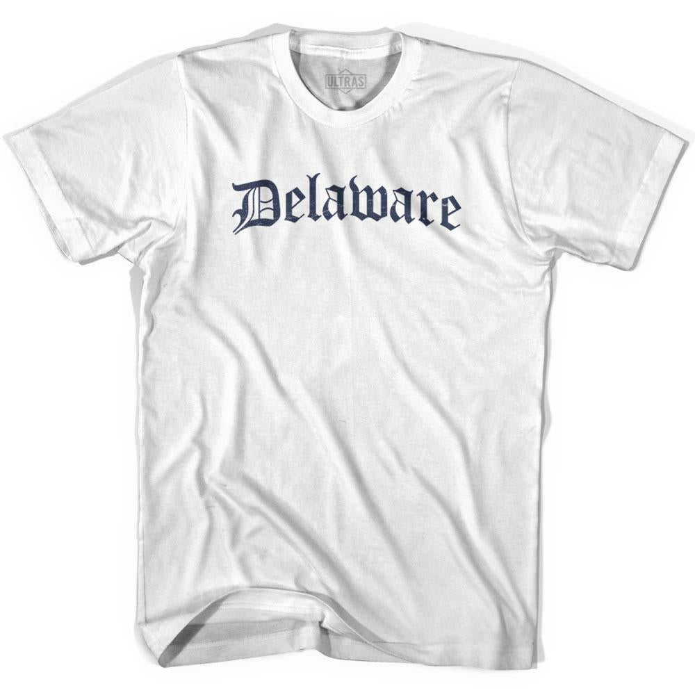 Womens Delaware Old Town Font T-shirt By Ultras