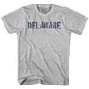 Delaware State Stencil Womens Cotton T-shirt by Ultras