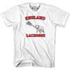England Bulldog T-shirt in White by Tribe Lacrosse