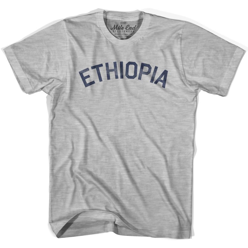 Ethiopia City Vintage T-shirt in Grey Heather by Mile End Sportswear
