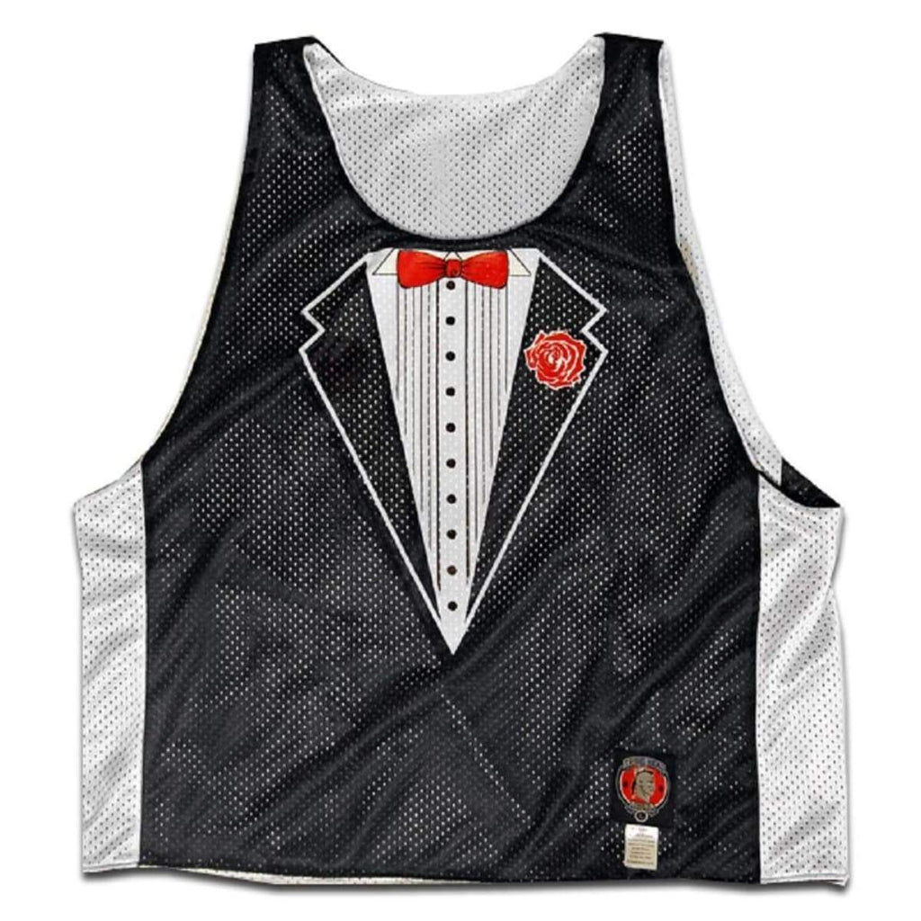 Formal Tuxedo Lacrosse Pinnie - Graphic Sublimated Lacrosse Pinnie