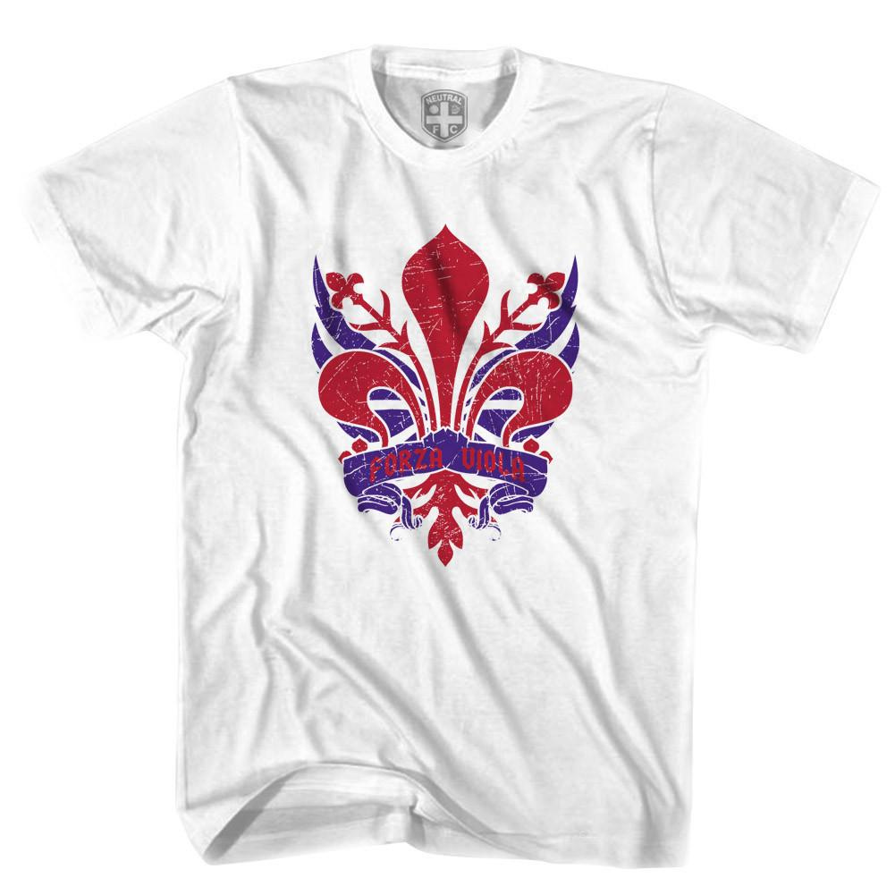 Fiorentina  Forza Viola T-shirt in White by Neutral FC