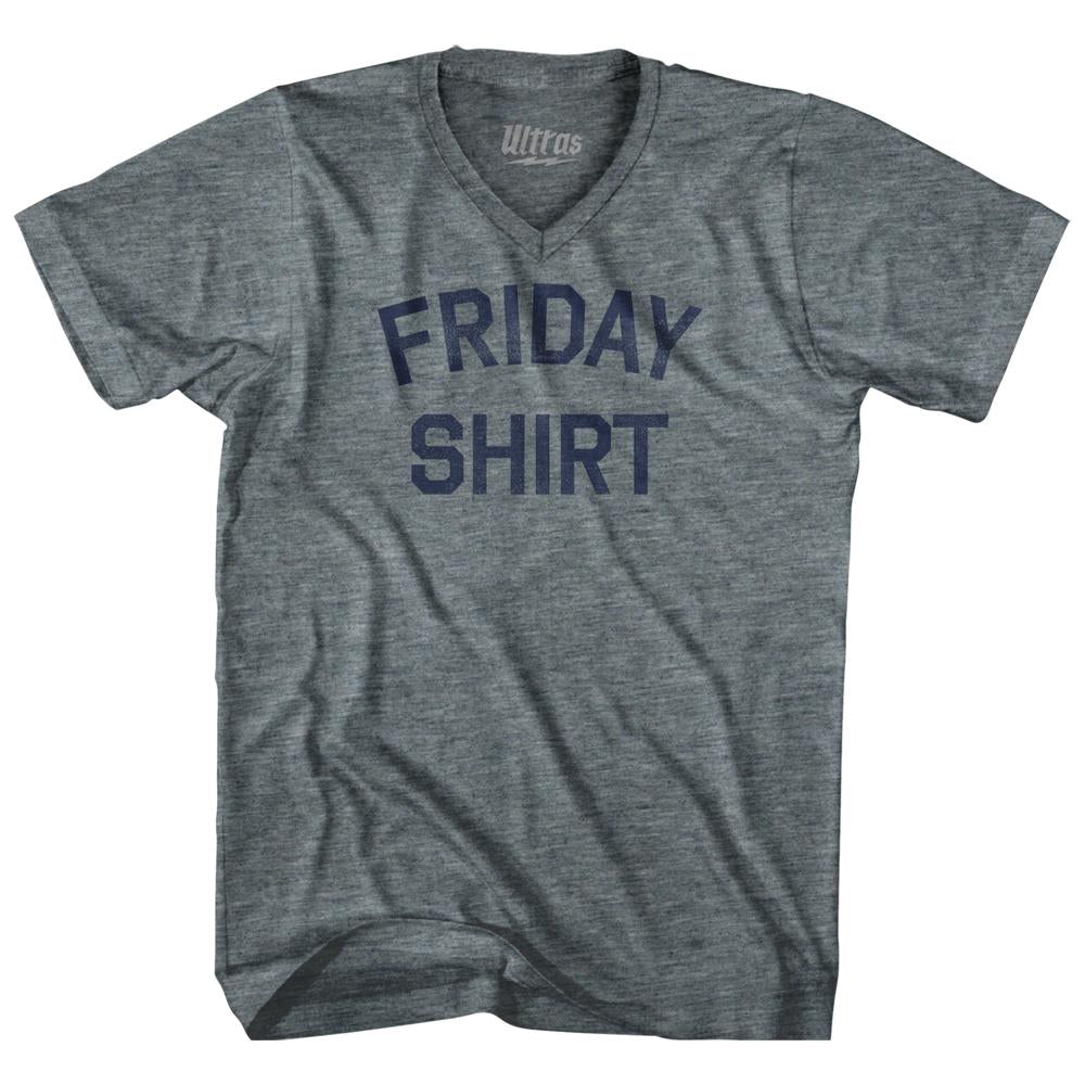 Friday Shirt Adult Tri-Blend V-Neck T-Shirt