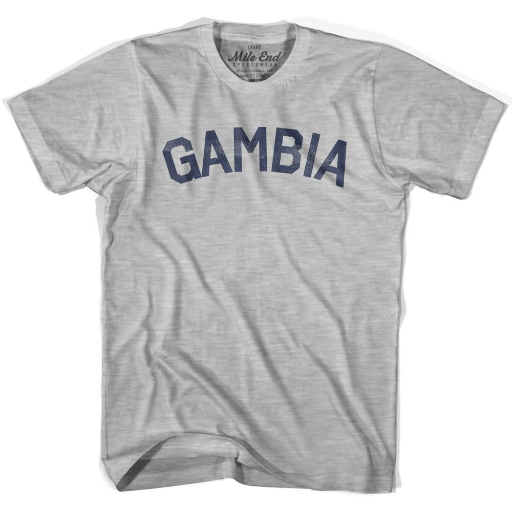 Gambia City Vintage T-shirt in Grey Heather by Mile End Sportswear
