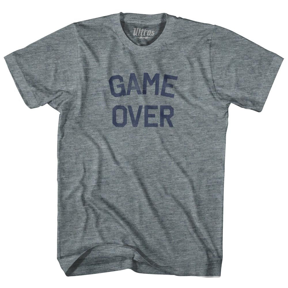Game Over Adult Tri-Blend T-Shirt