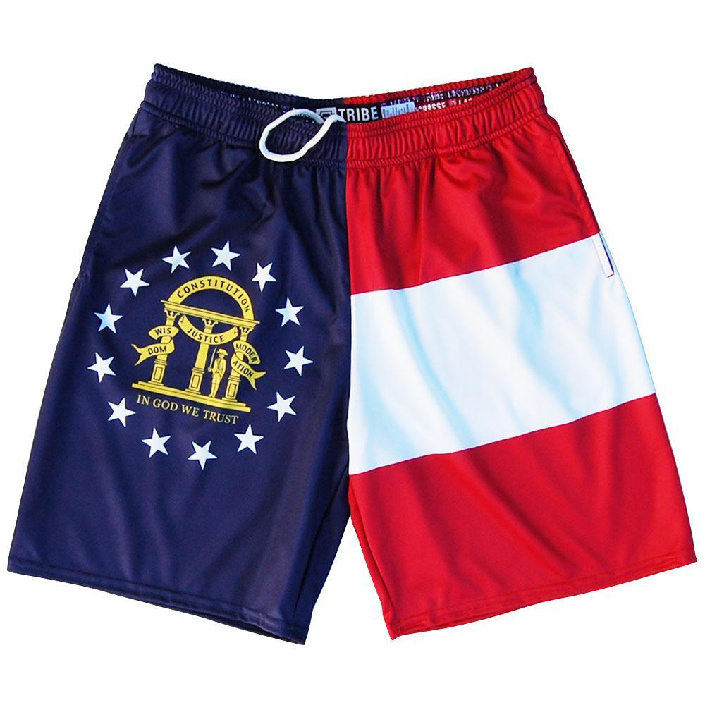 Georgia Flag Lacrosse Shorts by Tribe Lacrosse