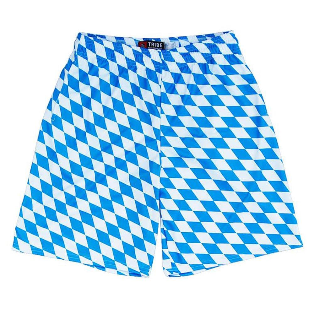 German Bavarian Lacrosse Shorts in Blue & White by Tribe Lacrosse