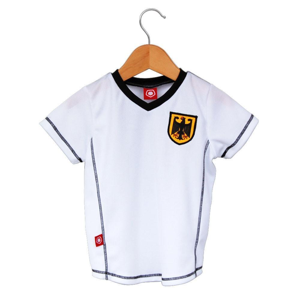 Germany Toddler Soccer Jersey in White by Ultras