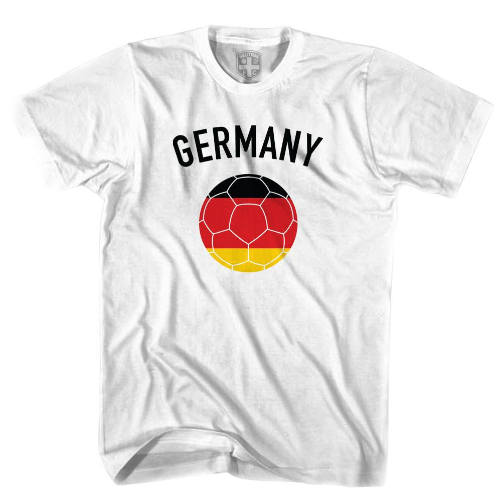 Germany Soccer Ball T-shirt in White by Neutral FC