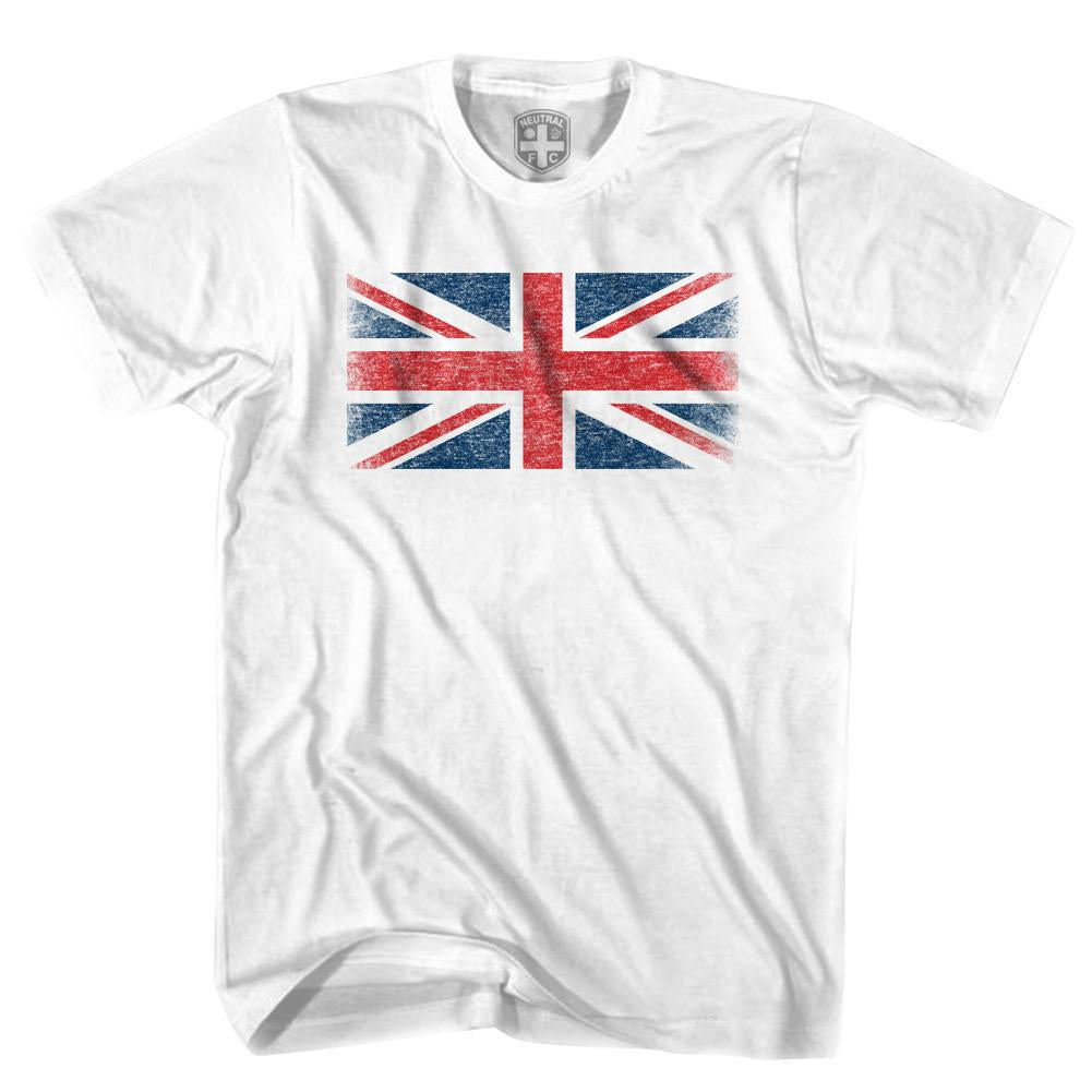 Great Britain Flag T-shirt in White by Neutral FC