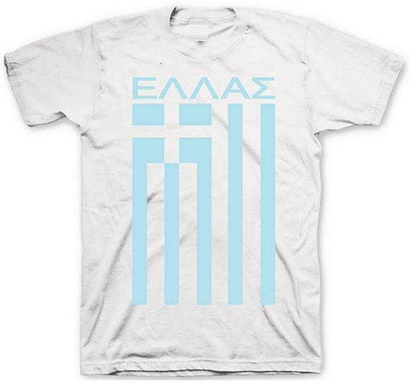 Greece Flag T-Shirt in Cool Grey by Neutral FC