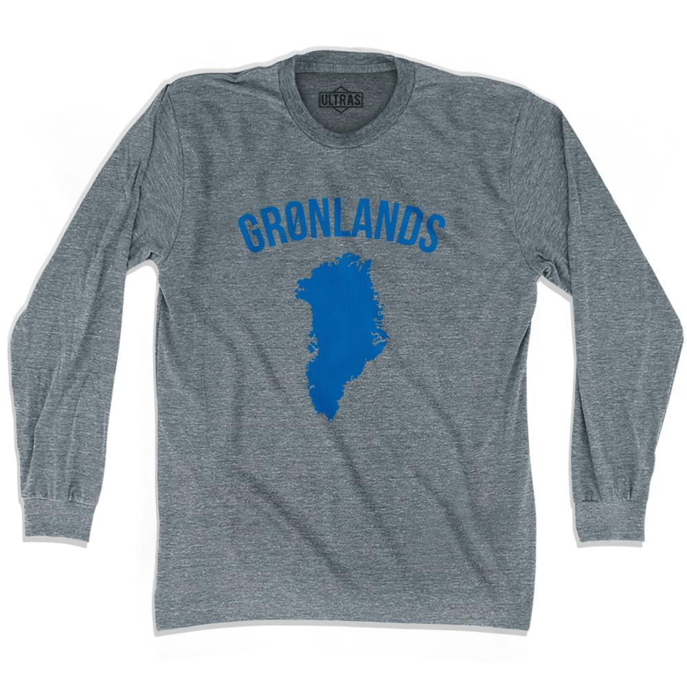 Ultras Greenland Gronland Country Soccer Long Sleeve T-shirt by Ultras