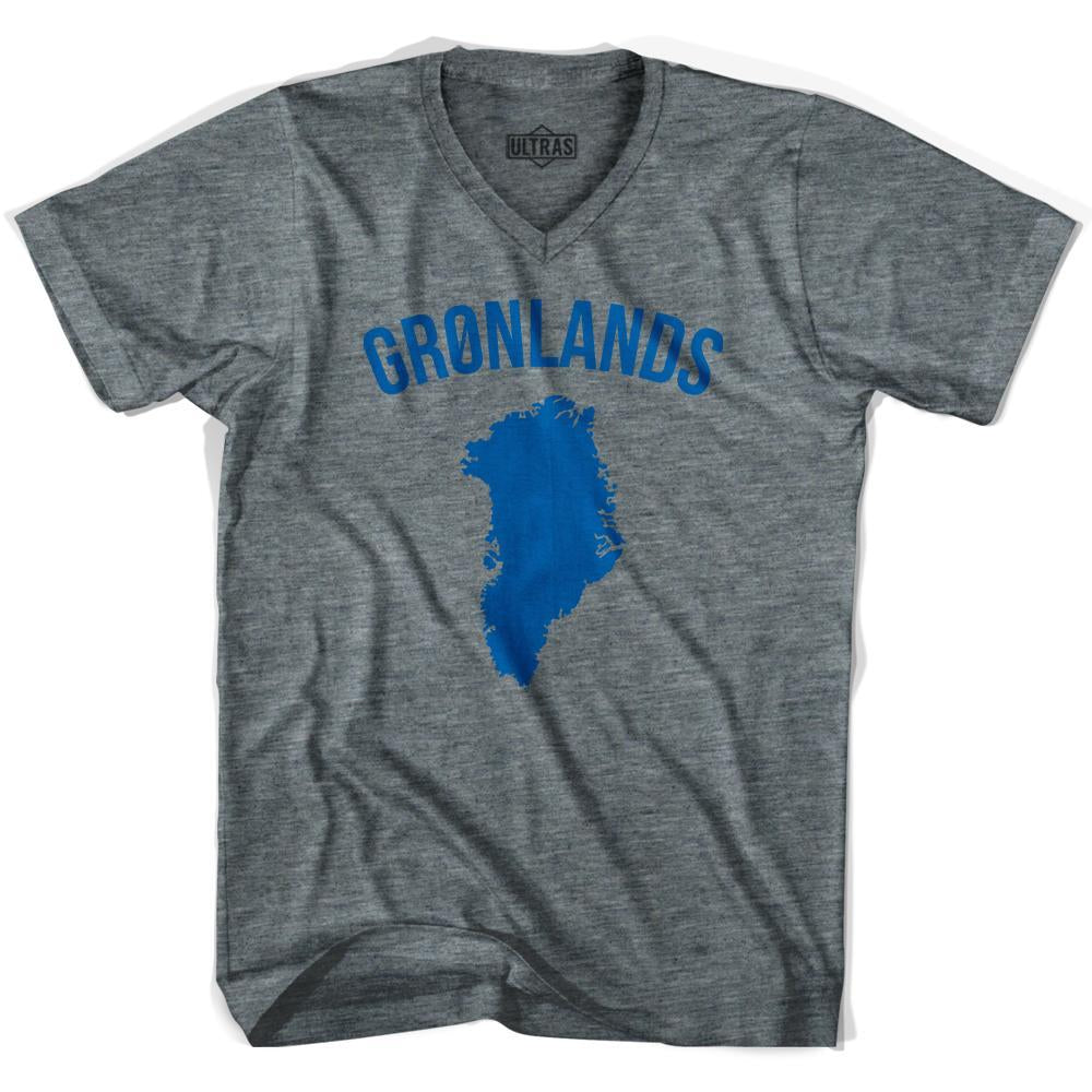 Ultras Greenland Gronland Country Soccer V-neck T-shirt by Ultras