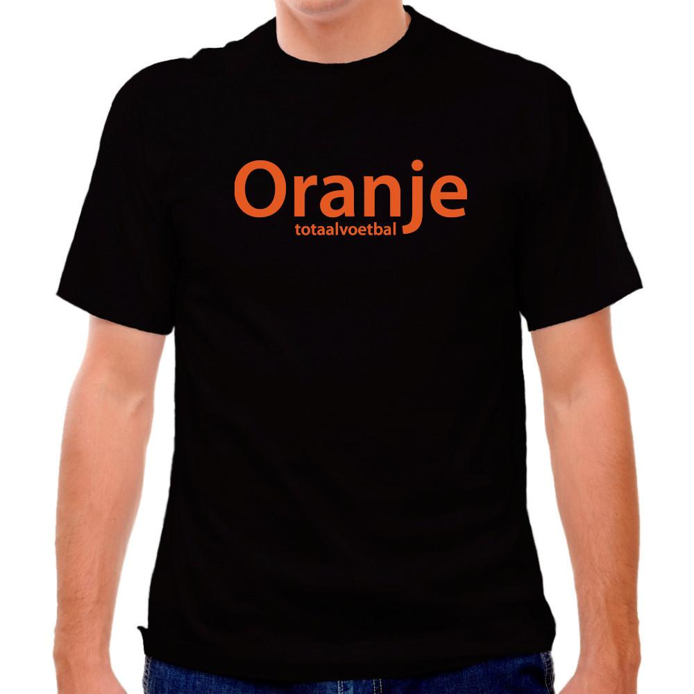 Holland Oranje Total Voetbal Black T-shirt in Black by Neutral FC
