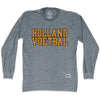 Holland Voetbal Vintage Soccer Long Sleeve T-shirt in Athletic Grey by Ultras