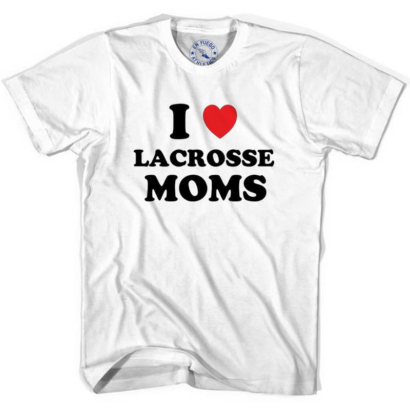 I Love Lacrosse Moms T-shirt in White by Tribe Lacrosse