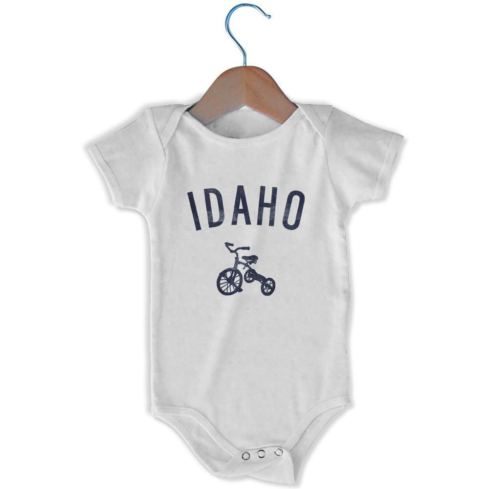 Idaho City Tricycle Infant Onesie in White by Mile End Sportswear