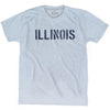 Illinois State Stencil Adult Tri-Blend T-shirt by Ultras