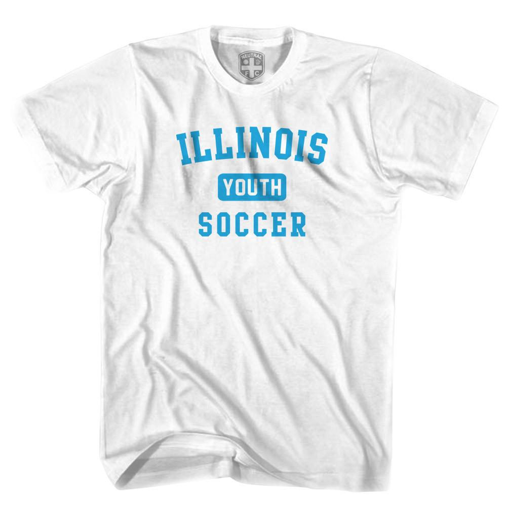 Illinois Youth Soccer T-shirt in White by Neutral FC